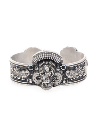 Tribal Silver Cuff with Deity Motif