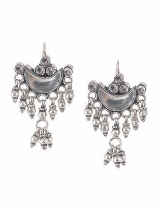 Kundan-inspired Silver Earrings