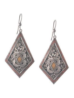 Coral Silver Earrings