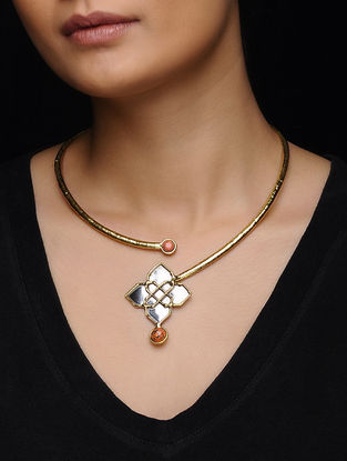 Coral Gold Tone Necklace