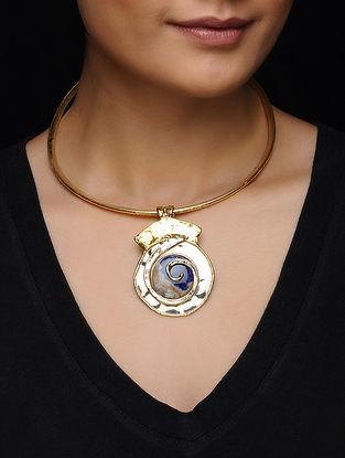 Lapis Lazuli Gold Tone Necklace