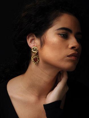 Haematite and Carnalian Stone Earrings