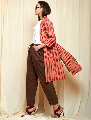 Red Khadi Cotton Top