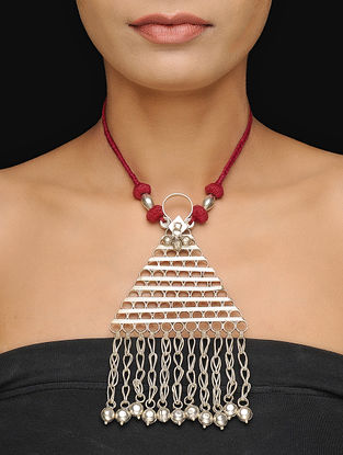 Red Thread Tribal Necklace
