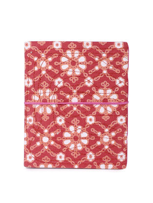 Red-Multicolored Printed Khata Notebook