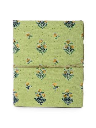 Green-Multicolored Printed Khata Notebook