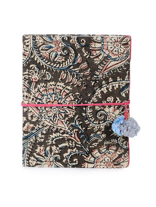 Brown-Multicolored Printed Khata Notebook