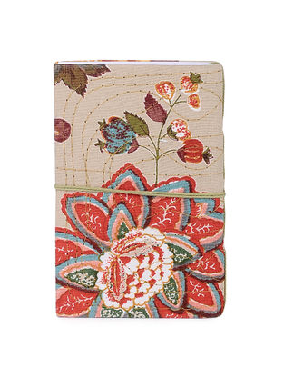 Beige-Multicolored Printed Khata Notebook