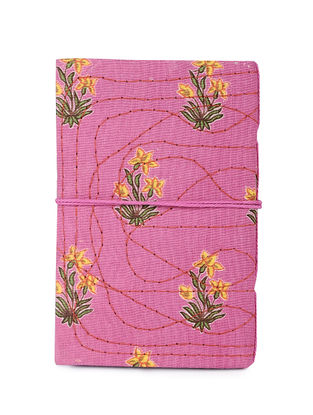 Pink-Multicolored Printed Khata Notebook