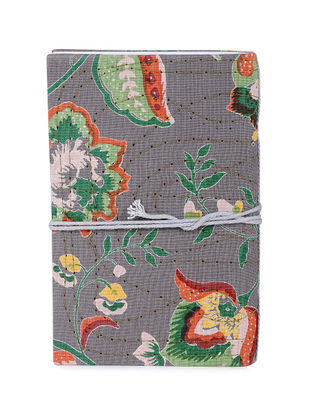 Grey-Multicolored Printed Khata Notebook