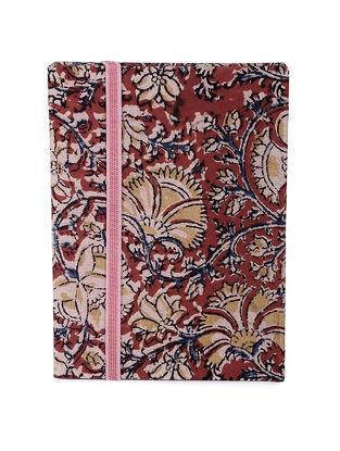 Maroon-Multicolored Printed Khata Notebook