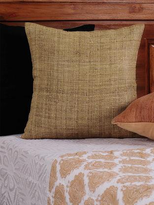 Beige Eri Silk Cushion Cover - 16in x 16in