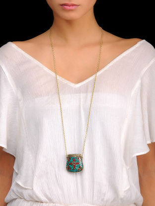Turquoise Bold Pendant Necklace