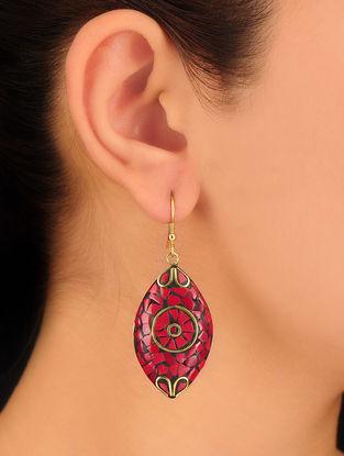 Coral-Red Earrings