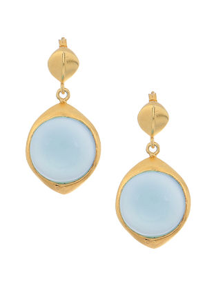 Onyx Gold-plated Silver Earrings