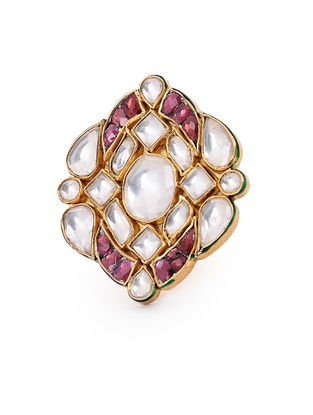 Pink Gold-plated Silver Ring