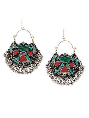 Red-Turquoise Earrings