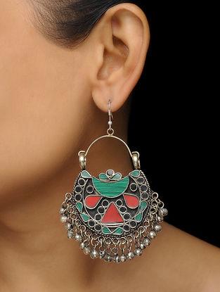 Green-Red Earrings