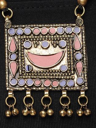 Maroon Thread Brass Necklace