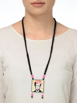 BlackThread Necklace with Frida Motif