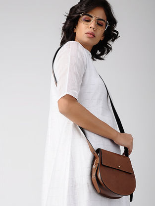 Tan Handcrafted Leather Sling Bag