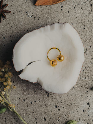 Gold Plated Handcrafted Brass Adjustable Ring