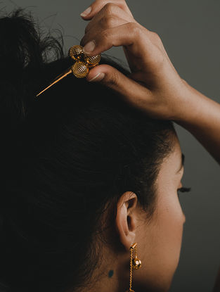 Gold Plated Handcrafted Brass Hairpin