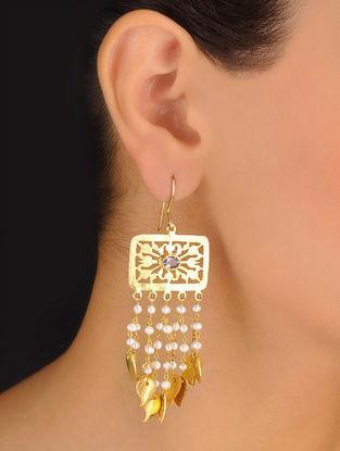 Pair of Classic Drop Silver Earrings