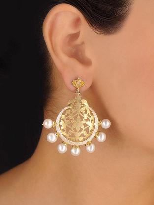 Pair of Floral Silver Earrings