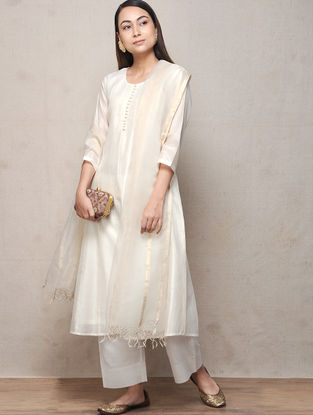 Ivory Cotton Silk Kurta
