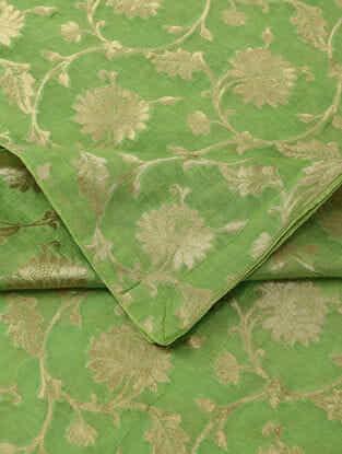 Green Benarasi Cotton Brocade Dupatta