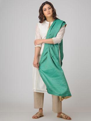 Green Benarasi Muga Silk Jacquard Dupatta