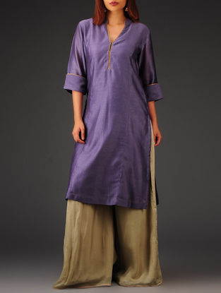 Purple Princess line Chanderi Kurta