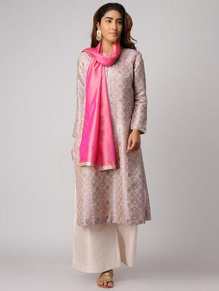 Multicolor Handwoven Silk Tanchoi Kurta