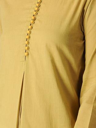 Beige Cotton Kurta with Potli Button