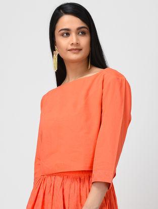Orange Cotton Crop Top