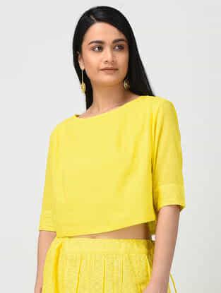 Yellow Cotton Crop Top