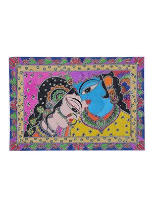 Radha Krishna Madhubani Painting - 15.5in x 22.2in