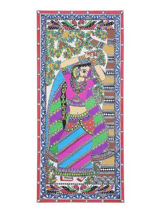 Dancing Women Madhubani Painting - 22.2in x 10.2in