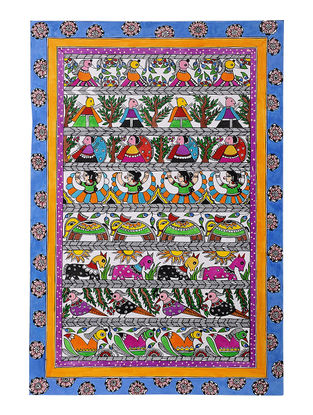 Godhna Style Madhubani Painting - 22in x 15in