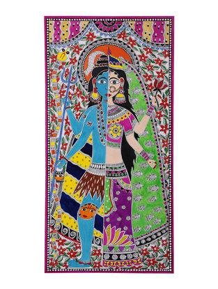Ardhanarishwar Madhubani Painting - 22in x 11in