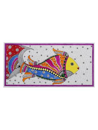 Fish Madhubani Painting - 7.5in x 15in