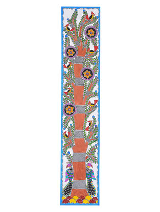Tree of Life Madhubani Painting - 28in x 5.5in