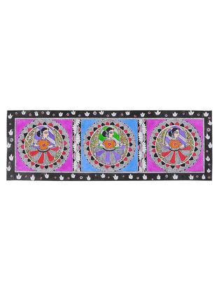 Dancing Women Madhubani Painting - 7.5in x 22.3in