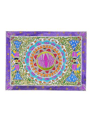 Lotus Madhubani Painting - 15in x 11.2in