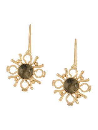 Labradorite Gold-plated Earrings