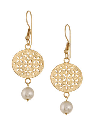 Classic Gold-Plated Pearl Earrings
