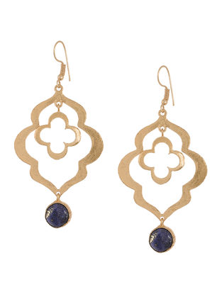 Blue Lapis Gold-plated Earrings
