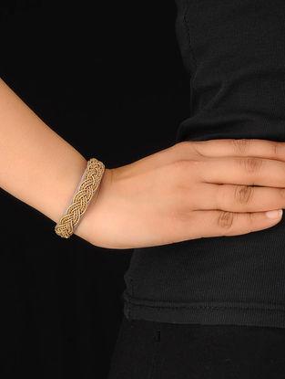Grey-Gold Zardosi Bracelet