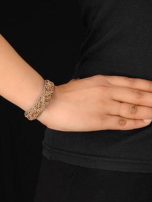 Taupe-Gold Zardosi Bracelet